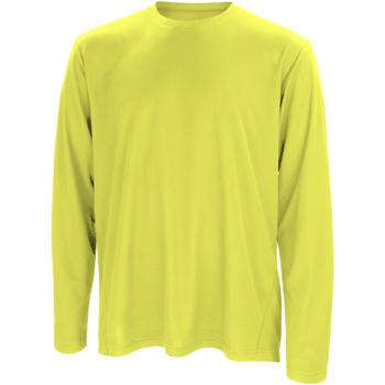 textil Herr Långärmade T-shirts Spiro S254M Lime Green