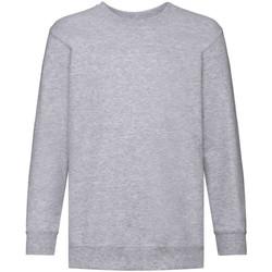 textil Barn Sweatshirts Fruit Of The Loom 62041 Grått