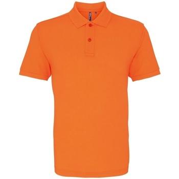 textil Herr Kortärmade pikétröjor Asquith & Fox AQ010 Neonorange