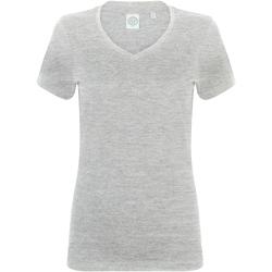 textil Dam T-shirts Skinni Fit SK122 Grått