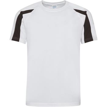 textil Herr T-shirts Just Cool JC003 Arctic White/Jet Black