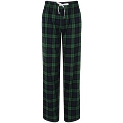 textil Dam Pyjamas/nattlinne Skinni Fit Tartan Marinblå/grön ruta