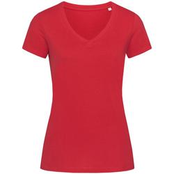 textil Dam T-shirts Stedman Stars Janet Peppar röd