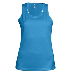 textil Dam Linnen / Ärmlösa T-shirts Kariban Proact Proact Aqua Blue