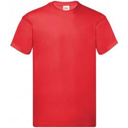 textil Herr T-shirts Fruit Of The Loom SS12 Ljusröd