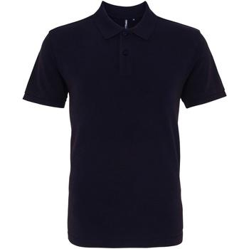 textil Herr Kortärmade pikétröjor Asquith & Fox AQ010 Tvättad marinblått