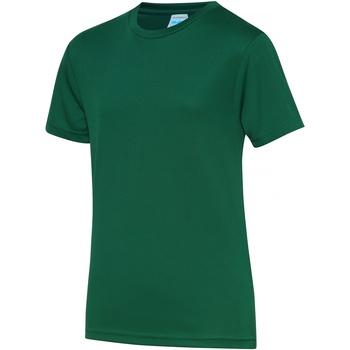 textil Barn T-shirts Awdis JC01J Flaskegrön