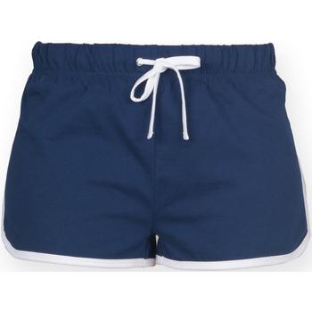 textil Dam Shorts / Bermudas Skinni Fit SK069 Marinblått/vit