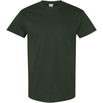 textil Herr T-shirts Gildan Heavy Skogsgrön