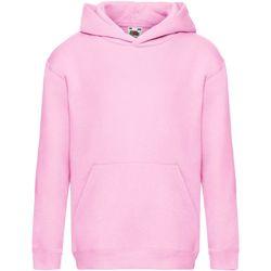 textil Barn Sweatshirts Fruit Of The Loom SS873 Ljusrosa