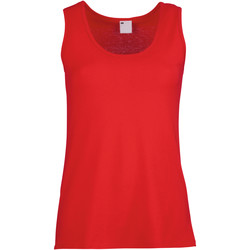 textil Dam Linnen / Ärmlösa T-shirts Universal Textiles Fitted Klassiskt röd