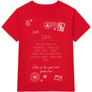 textil Barn T-shirts Christmas Shop CS145 Röd