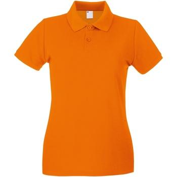 textil Dam Kortärmade pikétröjor Universal Textiles 63030 Ljus orange