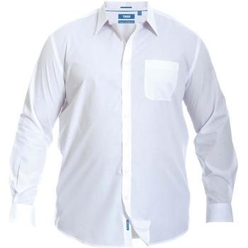 textil Herr Långärmade skjortor Duke  Vit
