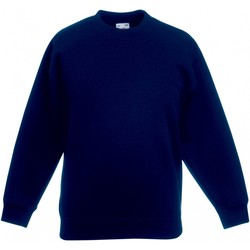 textil Barn Sweatshirts Fruit Of The Loom  Djupt marinblått