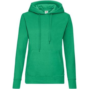 textil Dam Sweatshirts Fruit Of The Loom 62038 Kelly Green