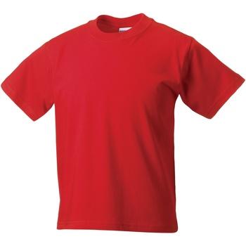 textil Barn T-shirts Jerzees Schoolgear ZT180B Ljusröd