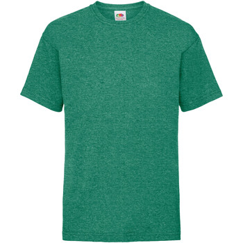 textil Barn T-shirts Fruit Of The Loom 61033 Retro Heather Green