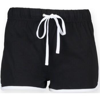 textil Barn Shorts / Bermudas Skinni Fit SM069 Svart/vit