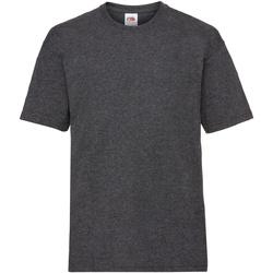 textil Barn T-shirts Fruit Of The Loom 61033 Mörk ljung