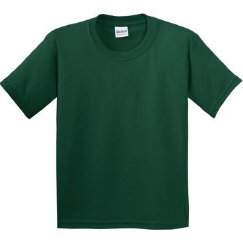textil Barn T-shirts Gildan 5000B Skogsgrön