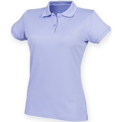 textil Dam Kortärmade pikétröjor Henbury Coolplus Lavendel