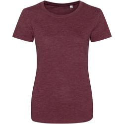 textil Dam T-shirts Awdis JT01F Lätt vinröd