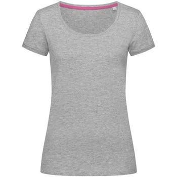 textil Dam T-shirts Stedman Stars  Grått