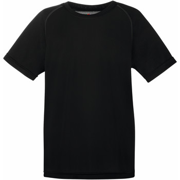 textil Barn T-shirts Fruit Of The Loom 61013 Svart
