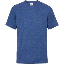 textil Barn T-shirts Fruit Of The Loom 61033 Retro Heather Royal