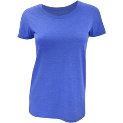 textil Dam T-shirts Bella + Canvas BE8413 True Royal Triblend