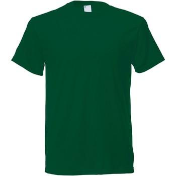 textil Herr T-shirts Universal Textiles 61082 Mörkgrön