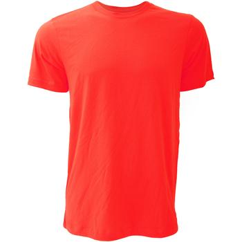textil Herr T-shirts Bella + Canvas CA3001 Röd