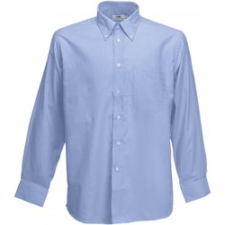 textil Herr Långärmade skjortor Fruit Of The Loom 65114 Oxford Blue