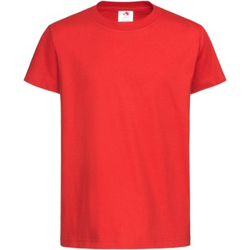 textil Barn T-shirts Stedman  Skarlakansröd
