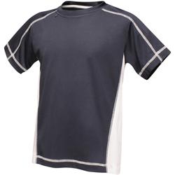 textil Barn T-shirts Regatta RA001B Marinblått/vit