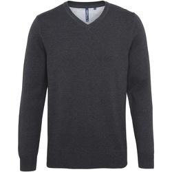 textil Herr Tröjor Asquith & Fox AQ042 Svart ljung