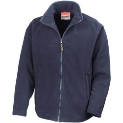 textil Herr Fleecetröja Result R115M Marinblått