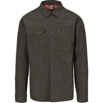 textil Herr Långärmade skjortor Trespass Darnet Olive