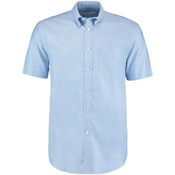textil Herr Kortärmade skjortor Kustom Kit KK350 Ljusblå