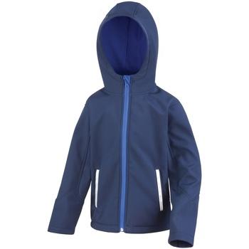 textil Barn Vindjackor Result R224JY Marinblått/Royal