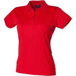textil Dam Kortärmade pikétröjor Henbury Coolplus Klassiskt röd