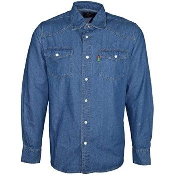 textil Herr Långärmade skjortor Duke  Stonewash