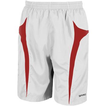 textil Herr Shorts / Bermudas Spiro S184X Vit/Röd