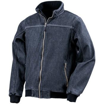 textil Herr Vindjackor Result RS406 Tvättad marinblått
