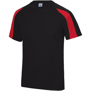 textil Herr T-shirts Just Cool JC003 Jet Black/Fire Red
