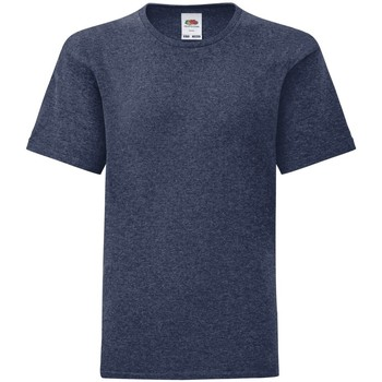 textil Barn T-shirts Fruit Of The Loom 61023 Marinblått