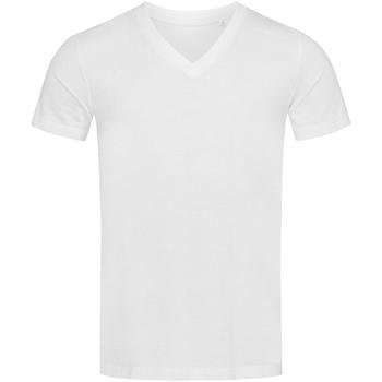 textil Herr T-shirts Stedman Stars  Vit