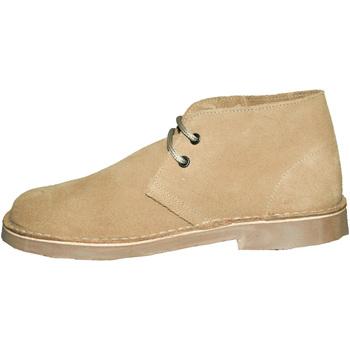 Skor Dam Boots Roamers Round Toe Kamel