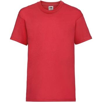 textil Barn T-shirts Fruit Of The Loom 61033 Röd